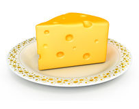 Piece of cheese isolated food Royalty Free Stock Photography