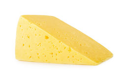 Piece of cheese isolated on white background stock image