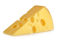 Piece of cheese isolated Stock Image