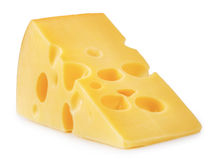 Piece of cheese isolated Royalty Free Stock Photography