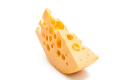 A piece of cheese isolated Stock Photography