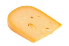 Piece of Cheese Isolated on White Background Royalty Free Stock Photos