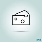 Piece of cheese line icon Royalty Free Stock Photography