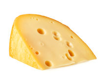 Piece of cheese lying on its side Stock Photos