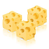 Piece of cheese vector illustration Royalty Free Stock Photography