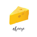 A piece of cheese Vector illustration Isolated on white background. A piece of cheese. Vector illustration Isolated on white background Royalty Free Stock Images