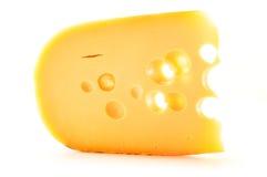 Piece of cheese  on white Stock Photos