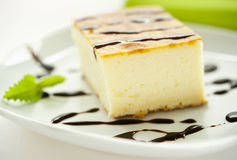 Piece of cheesecake royalty free stock photography