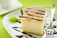 Piece of cheesecake Royalty Free Stock Images