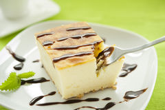 Piece of cheesecake Stock Photography