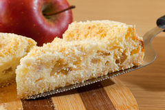 Piece of cheesecake with apple Royalty Free Stock Photography
