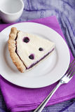 Piece of cheesecake with blueberries Royalty Free Stock Photos