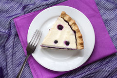 Piece of cheesecake with blueberries Royalty Free Stock Photo