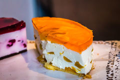 Piece of cheesecake Stock Image