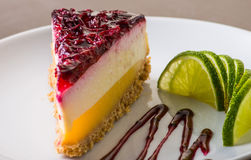 Piece of cheesecake Royalty Free Stock Image