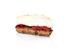 Piece of cherry cake Royalty Free Stock Images