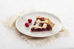Piece of cherry pie Royalty Free Stock Photo