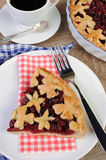 Piece of cherry pie Royalty Free Stock Image