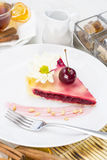 Piece of cherry pie Royalty Free Stock Images