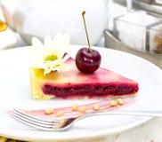 Piece of cherry pie Royalty Free Stock Photos