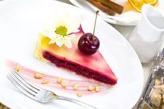 Piece of cherry pie Stock Image