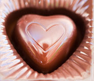 Piece of chocolate Stock Photo