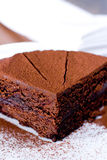 Piece of chocolate cake Royalty Free Stock Photos