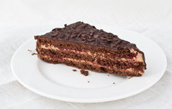 Piece of chocolate cake Royalty Free Stock Image