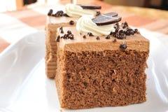 Piece of chocolate cake Stock Photo