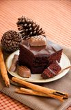 Piece of chocolate cake Stock Image