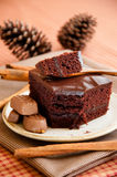 Piece of chocolate cake Royalty Free Stock Photography