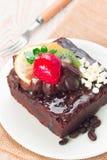 Piece of chocolate cake Royalty Free Stock Image
