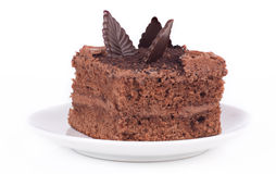 Piece of chocolate cake Stock Photography