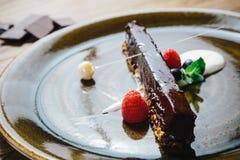 Piece of chocolate cake Stock Photography
