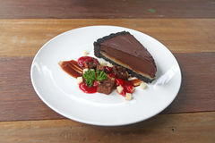 Piece of chocolate cake Royalty Free Stock Photo