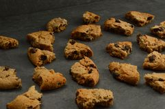 Piece of chocolate chip cookies stock image