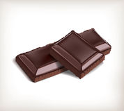 Piece of chocolate.Vector.EPS10 Royalty Free Stock Images