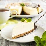 Piece of Classic New York Cheesecake Stock Photo
