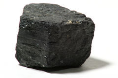 Piece of coal stock image