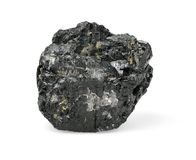 Piece of coal isolated on white Stock Image