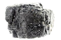 Piece of coal under water stock photography