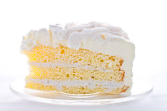 A piece of coconut cake Royalty Free Stock Photography