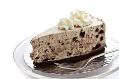 A piece of cookie and cream cheese cake 1 Stock Images
