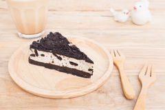 A piece of cookies and cream cheese Royalty Free Stock Photography