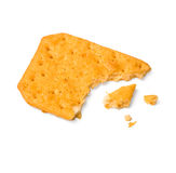 A piece of cracker. On white. With clipping path Stock Image