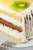 A piece of creamy cake Royalty Free Stock Photo