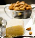 Piece of crude marzipan. Royalty Free Stock Images