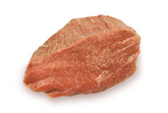 Piece of crude meat. Piece of fresh crude meat. On a white background Royalty Free Stock Image