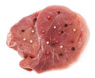 Piece of crude meat Stock Images