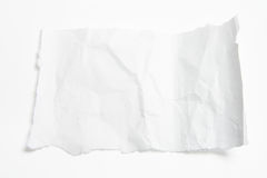 Piece of Crumpled Paper. On White Background royalty free stock images